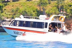 sea marlin express fast boat ke gili trawangan